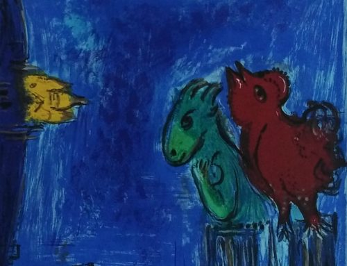 Marc Chagall – 1954 M101 The monsters of the Notre Dame – lithograph