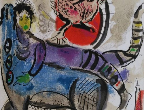 Marc Chagall – 1967 M488 The blue cow – lithograph