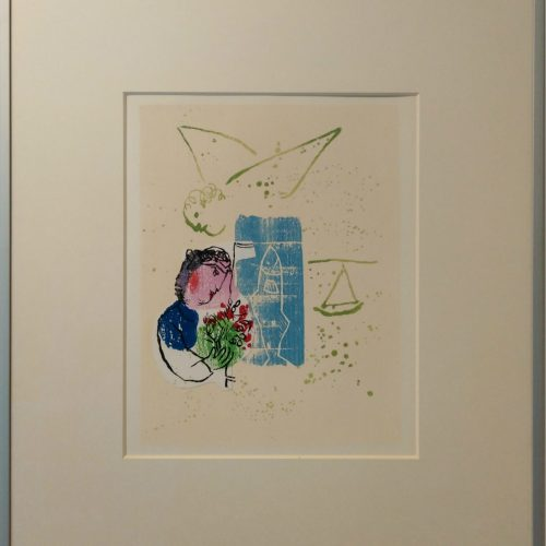 Marc Chagall - 1968 Poemes - woodcut and collage