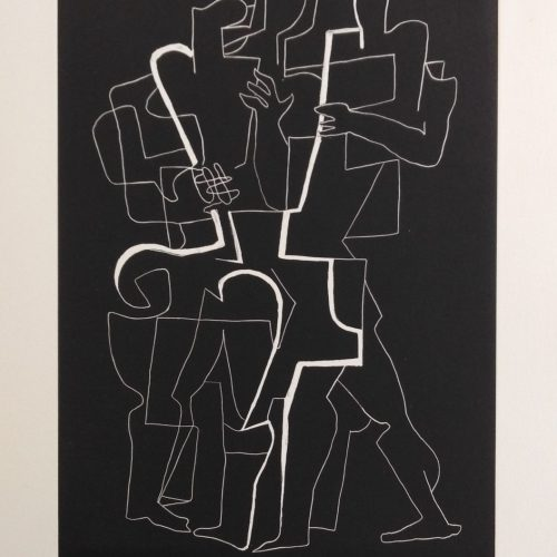 Ossip Zadkine – 1967 From: Appolinaire 6 – etching/calligramme